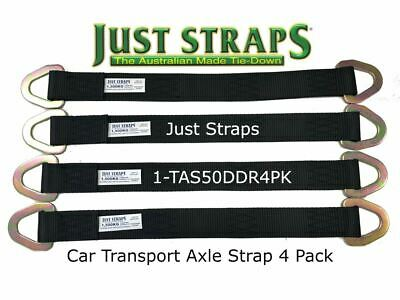 Just Straps Car Transport Axle Strap c/w Steel D Plates 4 Pack