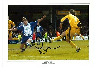 Dougie Freedman Crystal Palace Authentic Hand Signed 16x12 football photo SS106