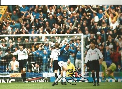 Gareth Farrelley Everton Authentic Hand Signed 12 x 8 inch football photo SS117