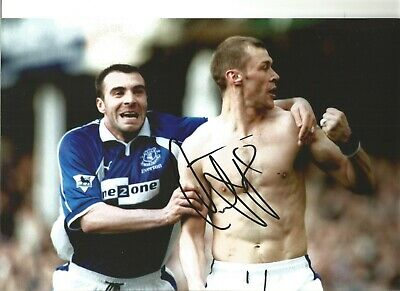 Duncan Ferguson Everton Authentic Hand Signed 12 x 8 inch football photo SS175