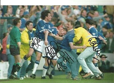 Gary Ablett Graeme Stuart David Unsworth Multi Everton Football Photo SS182