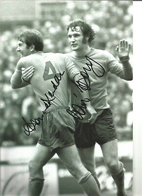 Howard Kendall Colin Harvey Everton Authentic Hand Signed Football Photo SS201