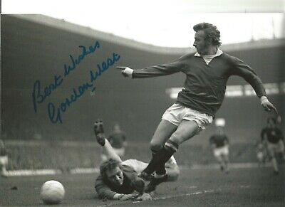 Gordon West Everton Authentic Hand Signed 12 x 8 inch football photo SS202
