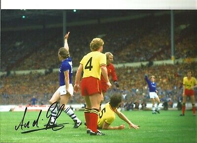 Andy Gray Everton Authentic Hand Signed 12 x 8 inch football photo SS207