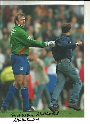 Neville Southall Everton Authentic Hand Signed 12 x 8 inch football photo SS214b