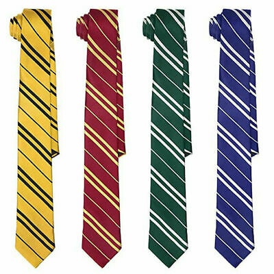 Harry Potter Tie Hogwarts Cosplay Gryffindor Slytherin Ravenclaw Hufflepuff Gift