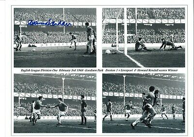 Howard Kendall Everton Authentic Hand Signed 16 x 12 inch football photo SS231a
