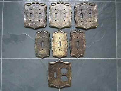 AMEROCK Ornate Single & Double Light Switch Plates + Outlet Dual Covers VINTAGE