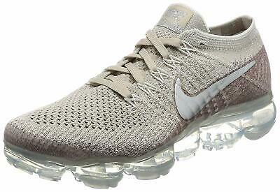 Nike Mens Nike Air Vapormax flyknit Fabric, String/Chrome/Sunset Glow, Size 12.0
