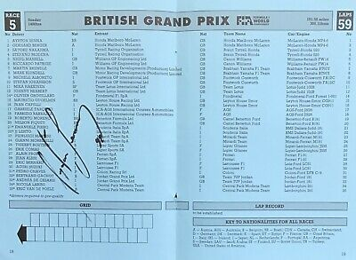 Aryton Senna  Authentic Signed F1 Race Card Page Aftal#198