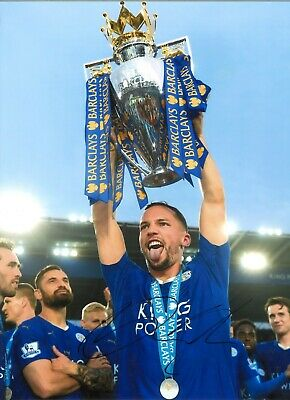Danny Drinkwater Leicester City Authentic Hand Signed 10 x 8 inch football SS240