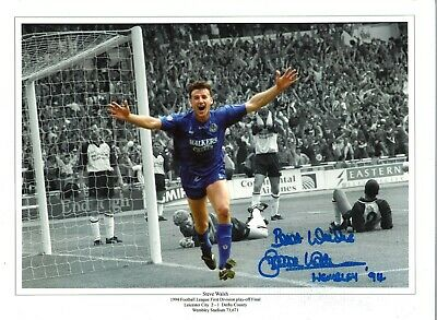 Steve Walsh Collage Wembley Leicester City Authentic Hand Signed photo SS252