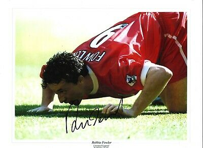 Robbie Fowler Liverpool Authentic Hand Signed 16 x 12 inch football photo SS294