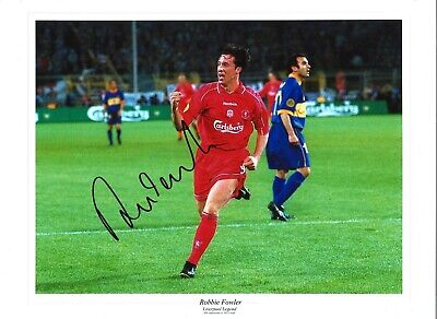 Robbie Fowler Liverpool Authentic Hand Signed 16 x 12 inch football photo SS294c