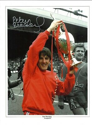 Peter Beardsley Collage Liverpool Authentic Hand Signed football photo SS322