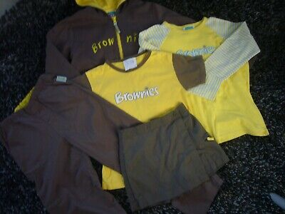 "Brownie Uniform Bundle- Hoody 32"",T-Shirt 30"", Top 30"",Trousers 24"", Skort 22"","