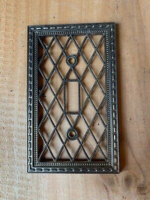 Vintage Ornate Filigree Brass Light Switch Wall Plate Cover