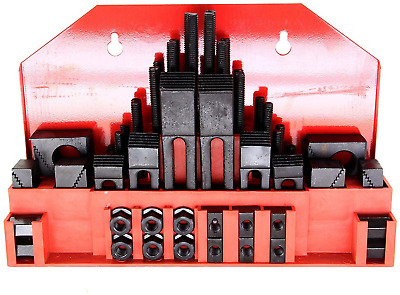 """HFSR 58pc 7/16"""" Slot,3/8"""" Stud Hold Down Clamp Clamping Set Kit Bridgeport Mill"""