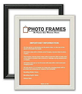 LW Antique Style Picture Photo Frames Certificate Frames Black & White