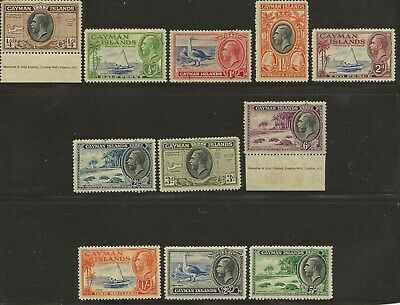 Cayman  Islands  Sg 96/106  1935 G.v. Set To 5/-   Fine Mounted Mint