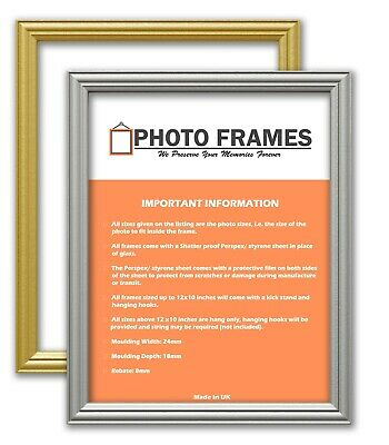 New Stylish Photo Frames Antique Traditional Style Picture Frames Gold & Silver