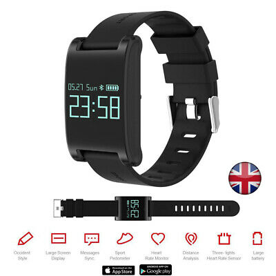 Fitness Smart Watch Sport Activity Tracker For Kids Fit bit Android iOS UK DM68