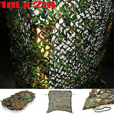 Woodland Camouflage Camo Net Netting Cover Hunting Camping Shooting Hide 1m x