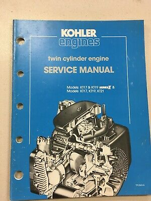 Kohler Engine Service Manual TP2043-A- Models KT17, KT19
