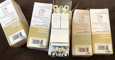 Legrand Pass & Seymour TM8113-WCC Two Single Pole & 3-Way Switch White 15A- 120V