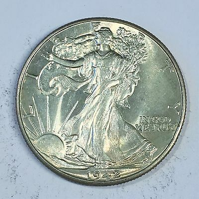 1942 Walking Liberty Half Dollar - High Quality Scans #C699