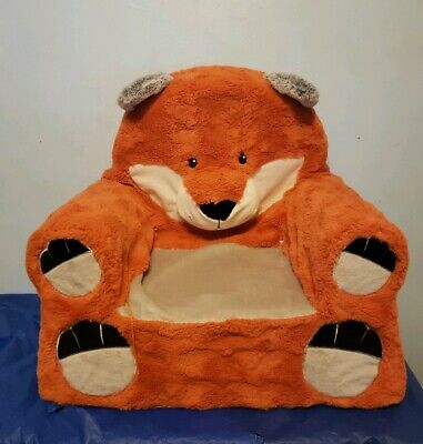 Kids Plush Chair Adorable Fox Children's Seat Toddler Bedroom Couch Furniture
