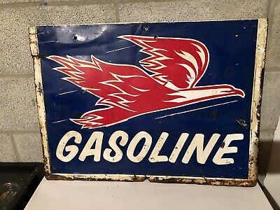 Vintage Pure Oil Company Firebird Gasoline Sign VERY RARE FREE SHIPPING