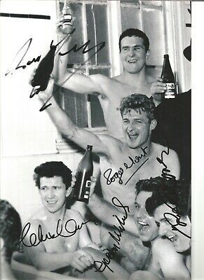 Liverpool Legends Multiple Autographed Authentic Handsigned football photo SS397