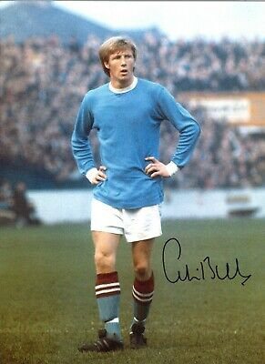 Colin Bell Manchester City Authentic Hand Signed 16 x 12 football photo SS420