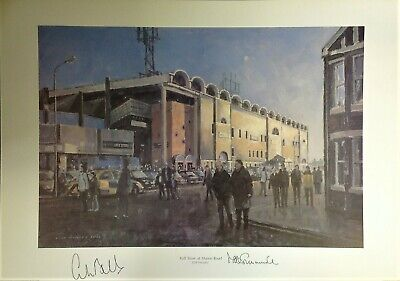 Mike Summerbee Colin Bell Manchester City Authentic Hand Signed print SS425