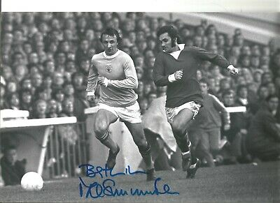Mike Summerbee Manchester City Authentic Hand Signed 12 x 8 inch football SS426b