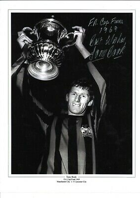 Tony Book Manchester City Authentic Hand Signed 16x12 inch football photo SS427