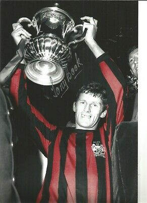 Tony Book Manchester City Authentic Hand Signed 12x8 inch football photo SS428c