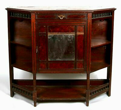 Charming Old Antique Victorian Walnut Sideboard Console Hall Table Cupboard