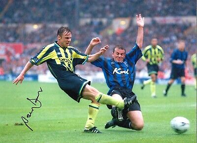 Paul Dickov Manchester City Authentic Hand Signed 16 x 12 football photo SS438