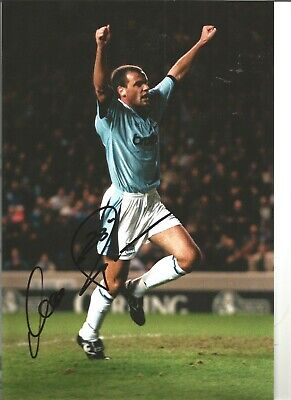 Uwe Rosler Manchester City Authentic Hand Signed 12 x 8 football photo SS442b