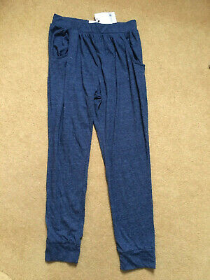 New Next Blue Girls Joggers Jogging Pants Trousers 10 RRP New £11.00