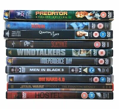DVD Bundle x6 Predator, Windtalkers, Quantum Of Solace, Hostel, Scarface, Ronin