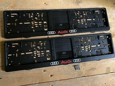 Audi Number Plate Surrounds Frames Pair a4 a5 a3 a2 a1 Quattro Tdi estate rs3 s4