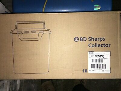 10 Brand New BD Sharps Disposable Bio-hazard Container, 2 Gallon, Red, 305435