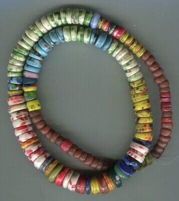 African Trade beads Vintage Czech Bohemian old Kancamb pressed glass beads