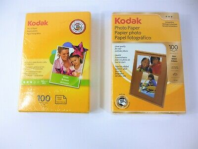 """Kodak 4""""X6""""  Gloss / Instant Dry Photo Paper - 2 Boxes of 100 Sheets Each - NEW"""