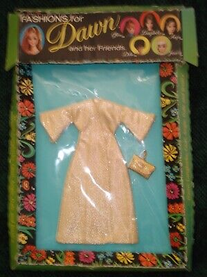 "NRFB Dawn/Pippa, 6 1/2"" doll sz. fashion HTF ""Golden Moment"" coat with purse"