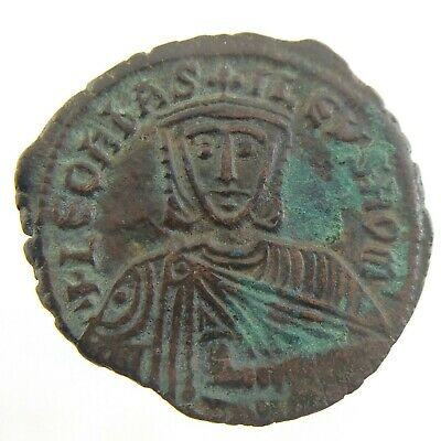 Leo VI The Wise Byzantine Eollis Year 886-912 AD Constantinople Coin N459