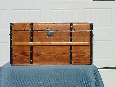 Antique Trunk w/ a Great Restoration  Circa 1850's - 1860's    A Very Old Trunk